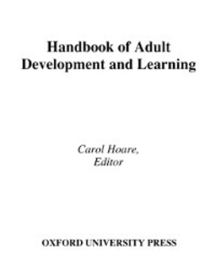 Ebook in inglese Handbook of Adult Development and Learning -, -