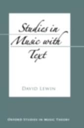 Studies in Music with Text