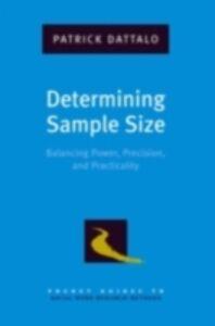 Foto Cover di Determining Sample Size: Balancing Power, Precision, and Practicality, Ebook inglese di Patrick Dattalo, edito da Oxford University Press