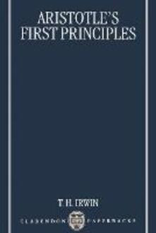 Aristotle's First Principles - Terence Irwin - cover