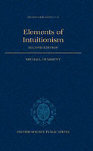 Elements of Intuitionism - Michael Dummett - cover