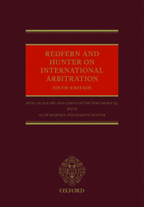 Redfern and Hunter on International Arbitration - Nigel Blackaby,Constantine Partasides,Alan Redfern - cover