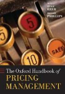 The Oxford Handbook of Pricing Management - cover
