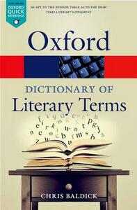 The Oxford Dictionary of Literary Terms - Chris Baldick - cover
