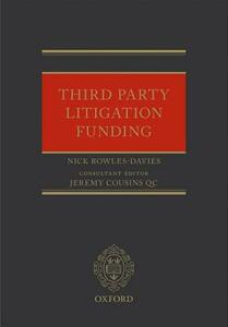 Third Party Litigation Funding - Nick Rowles-Davies - cover