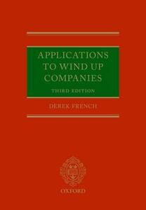 Applications to Wind Up Companies - Derek French - cover