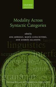 Modality Across Syntactic Categories - cover