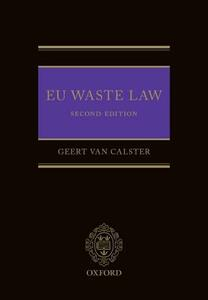 EU Waste Law - Geert van Calster - cover