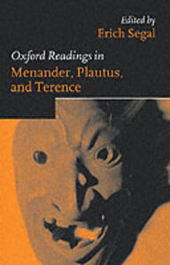 Oxford Readings in Menander, Plautus, and Terence - cover