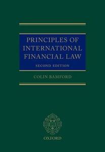 Principles of International Financial Law - Colin Bamford - cover