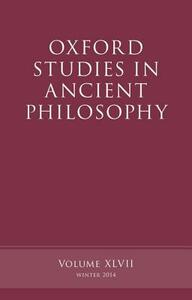 Oxford Studies in Ancient Philosophy, Volume 47 - cover