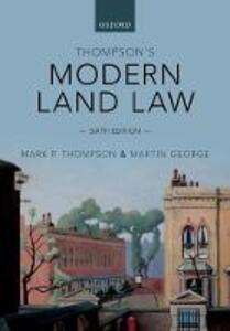 Thompson's Modern Land Law - Mark Thompson,Martin George - cover