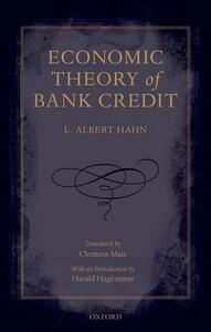Economic Theory of Bank Credit - L. Albert Hahn - cover