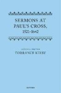 Sermons at Paul's Cross, 1521-1642 - cover