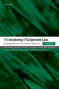 The Anatomy of Corporate Law: A Comparative and Functional Approach - Reinier Kraakman,Luca Enriques,Gerard Hertig - cover