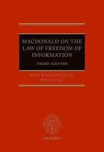 Macdonald on the Law of Freedom of Information - cover