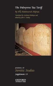 The Palmyrene Tax Tariff - Ilia Sholeimovich Shifman - cover