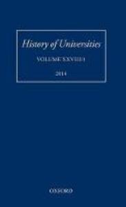 History of Universities: Volume XXVIII/1 - Mordechai Feingold - cover
