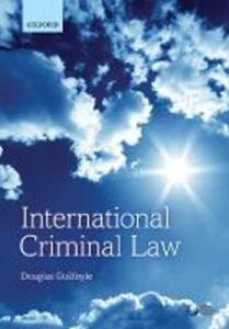 International Criminal Law - Douglas Guilfoyle - cover