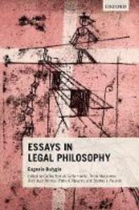 Essays in Legal Philosophy - Eugenio Bulygin - cover