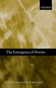 The Emergence of Norms - Edna Ullmann-Margalit - cover