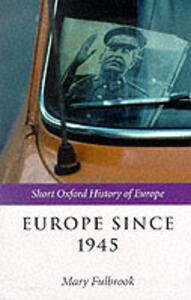 Europe Since 1945 - cover