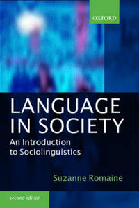 Language in Society: An Introduction to Sociolinguistics - Suzanne Romaine - cover