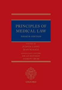 Principles of Medical Law - cover
