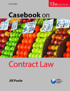 Casebook on Contract Law - Jill Poole - cover