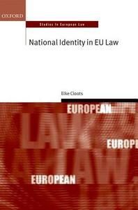 National Identity in EU Law - Elke Cloots - cover