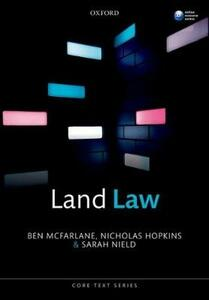 Land Law - Ben McFarlane,Nicholas Hopkins,Sarah Nield - cover