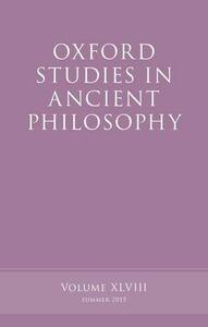 Oxford Studies in Ancient Philosophy, Volume 48 - cover