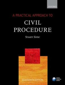 A Practical Approach to Civil Procedure - Stuart Sime - cover