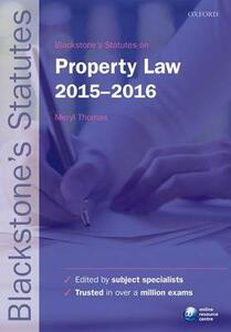 Blackstone's Statutes on Property Law - cover