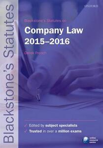Blackstone's Statutes on Company Law - cover