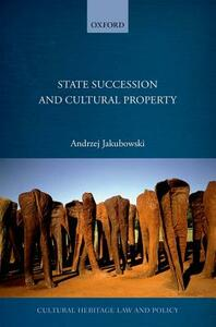 State Succession in Cultural Property - Andrzej Jakubowski - cover