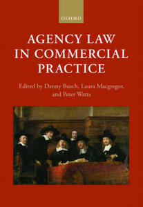Agency Law in Commercial Practice - cover