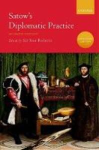 Satow's Diplomatic Practice - cover
