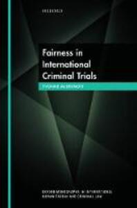 Fairness in International Criminal Trials - Yvonne McDermott - cover