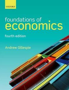 Foundations of Economics - Andrew Gillespie - cover