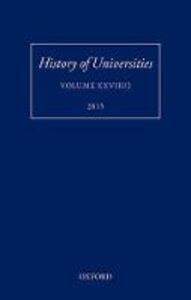 History of Universities: Volume XXVIII/2 - cover