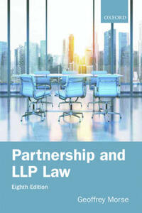 Partnership and LLP Law 8e - Geoffrey Morse - cover