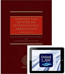 Redfern and Hunter on International Arbitration - Nigel Blackaby,Constantine Partasides,Alan Redfern - cover