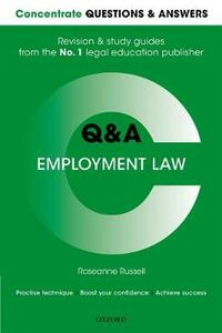 Concentrate Questions and Answers Employment Law: Law Q&A Revision and Study Guide - Roseanne Russell - cover