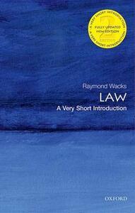 Law: A Very Short Introduction - Raymond Wacks - cover