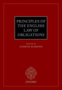Principles of the English Law of Obligations - cover