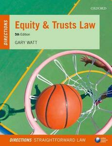 Equity & Trusts Law Directions - Gary Watt - cover