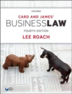 Card & James' Business Law - Lee Roach - cover