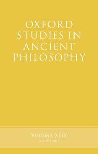 Oxford Studies in Ancient Philosophy, Volume 49 - cover