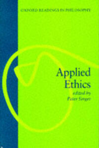 Applied Ethics - Peter Singer - cover